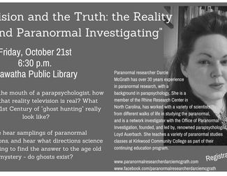 Search paranormal researcher darcie mcgrath  1