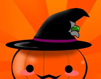 Search halloween pumpkin with hat