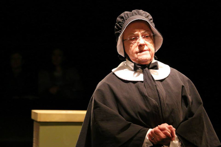 "Cherryl Moon Thomason plays Sister Aloysius Beauvier in the Theatre Cedar Rapids production of ""Doubt,"" which runs through Feb. 28. (Theatre Cedar Rapids)"