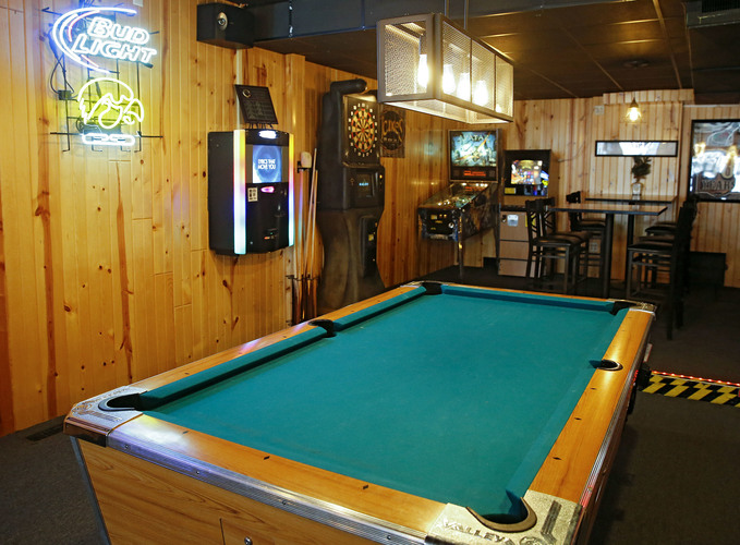 A game area at Black Squirrel Tap in Swisher on Monday, Jan. 23, 2017. (Stephen Mally/The Gazette)