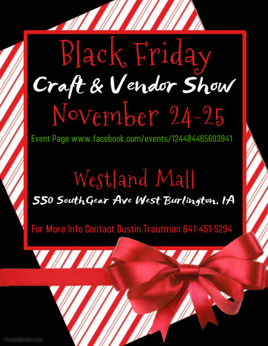 Black Friday at the Mall Craft & Vendor Show