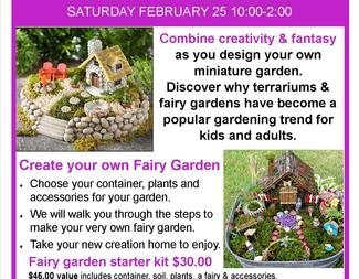 Search fairy garden seminar