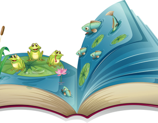 Search book cartoon frogs