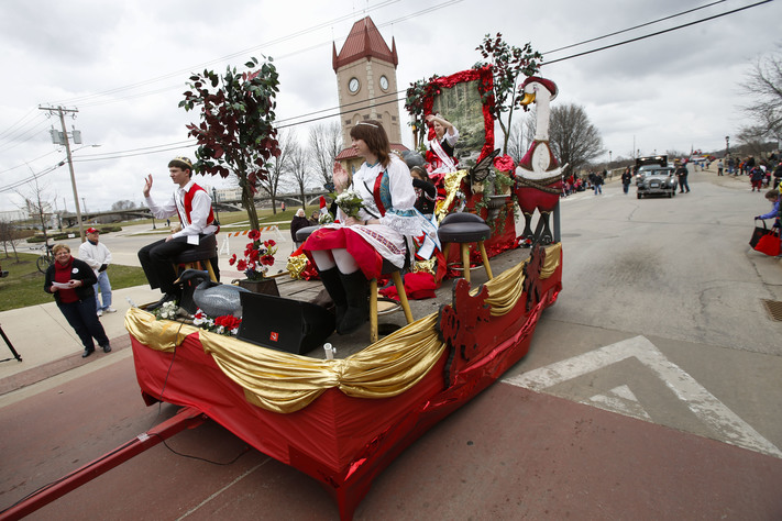 Members of the Czech Heritage Foundation's Czech Royal Court ride in Czech Village's annual St. Joseph's Day parade in Cedar Rapids on Saturday, Mar. 19, 2016.  (Rebecca F. Miller/The Gazette)