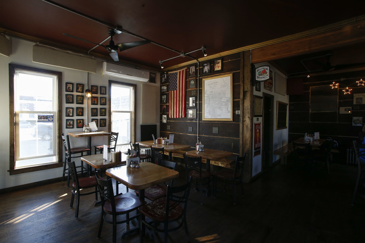 "The Cider House is a former barbershop that has been renovated in Fairfield on Wednesday, Feb. 22, 2017. The pub serves its homemade cider plus other local and international beers and spirits, along with the 2015 ""Best Burger in Iowa."" (Rebecca F. Miller/The Gazette)"