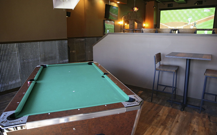 A pool table at Brick Alley Pub and Sports Bar in Marion on Thursday, Apr. 6, 2017. (Stephen Mally/The Gazette)