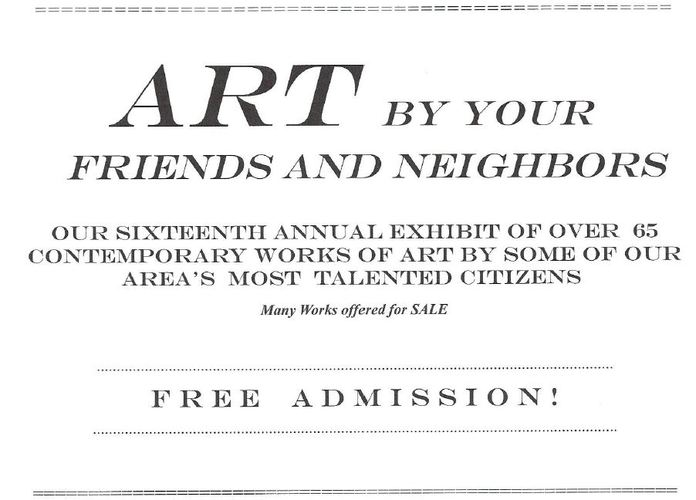 Art by Your Friends and Neighbors