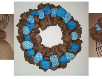 Search blue wreath banner
