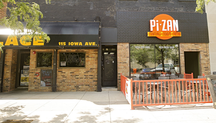PiZan Pizza (right) is located right next to Joe's Place on Iowa Avenue in Iowa City on Wednesday, Jul. 5, 2017. (Stephen Mally/The Gazette)