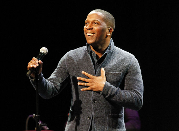 Leslie Odom, Jr. performs at Hancher Auditorium in Iowa City on Monday, March 27, 2017. (Rebecca F. Miller/The Gazette)
