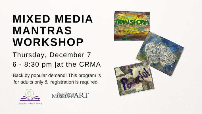Mixed Media Mantras Art Workshop for Adults