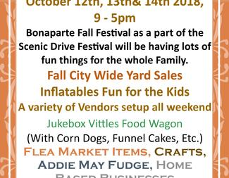 2018 Bonaparte Fall Festival