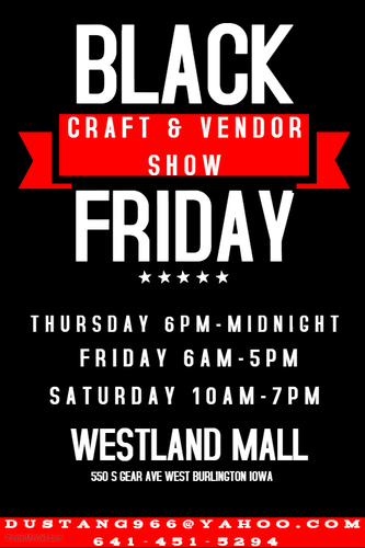 2018 Black Friday at the Mall Craft & Vendor Show