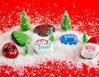 Search holiday kindness rocks event