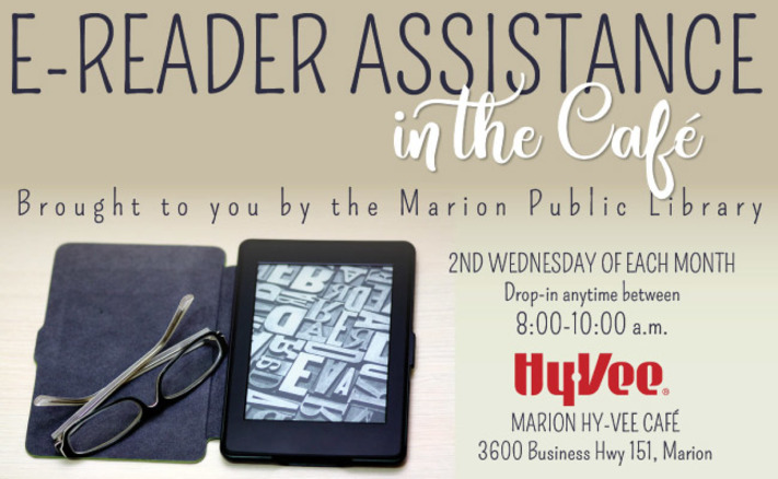 E-Reader Assistance in the Marion Hy-Vee Cafe