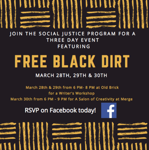 Writer's Workshop featuring Free Black Dirt