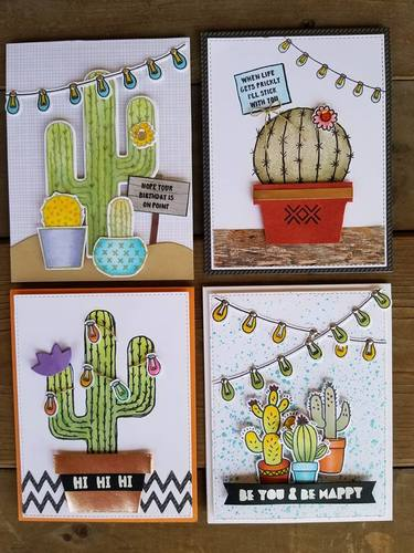 Copic Cactus Cards at Scrapmania