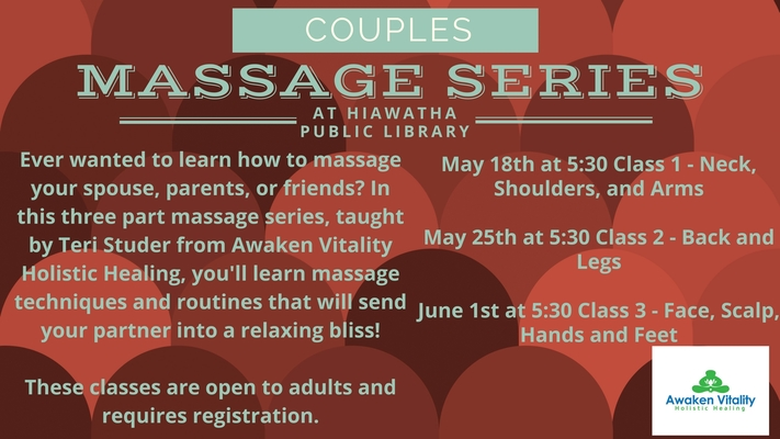 Couples Massage Workshop Series: Class 3 -Face, Scalp, Hands and Feet