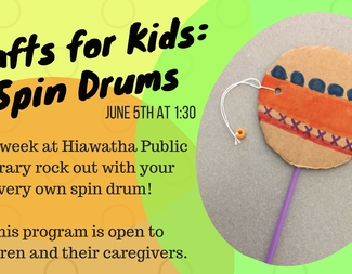 Search crafts for kids  spin drum