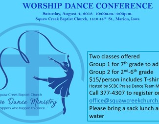Search worship dance conference poster