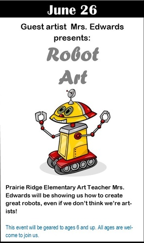 Robot Art with Guest Artist Mrs. Edwards