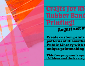 Search crafts for kids  rubber band printing