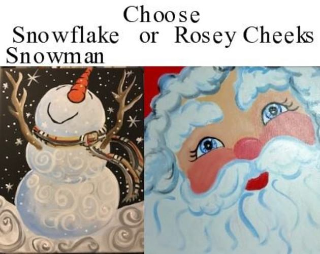 "Snowflake Snowman or Rosey Cheeks "" with Vino van Gogh"