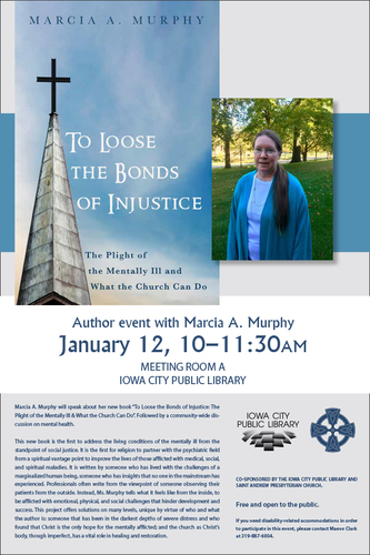 Author Event: To Loose the Bonds of Injustice: The Plight of the Mentally Ill & What the Church Can Do
