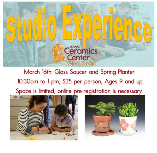 Studio Experience Workshop--Glass Saucer and Clay Spring Planter