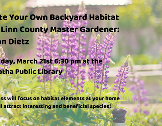Search create your own backyard habitat