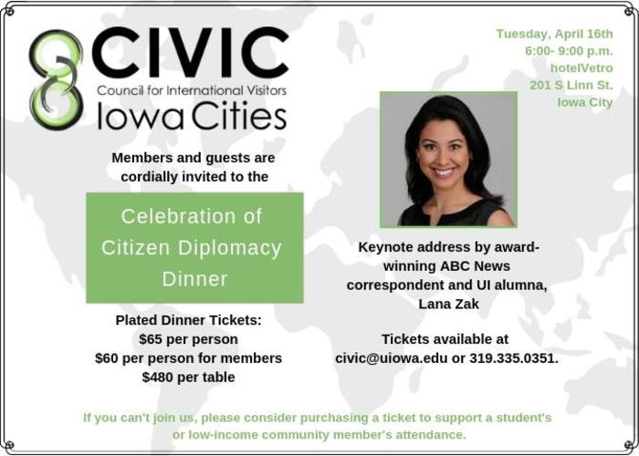 Celebration of Citizen Diplomacy Dinner