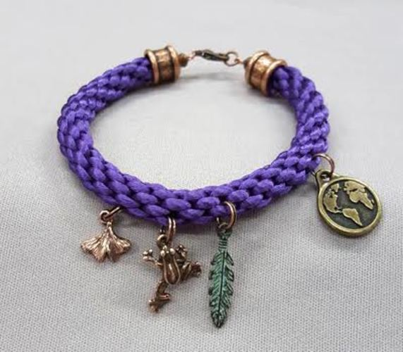Kumihimo Charm Bracelet through Kirkwood