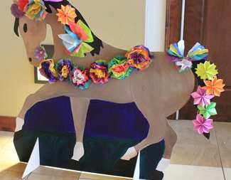 Search horse with flowers