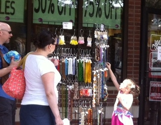 Sidewalk Sales in Downtown Iowa City at Beadology Iowa