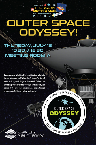 Special Access SRP Kids: The Science Center of Iowa presents Outer Space Odyssey!