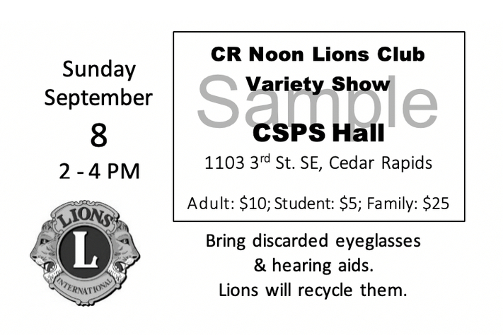 CR Noon Lions Club Variety Show