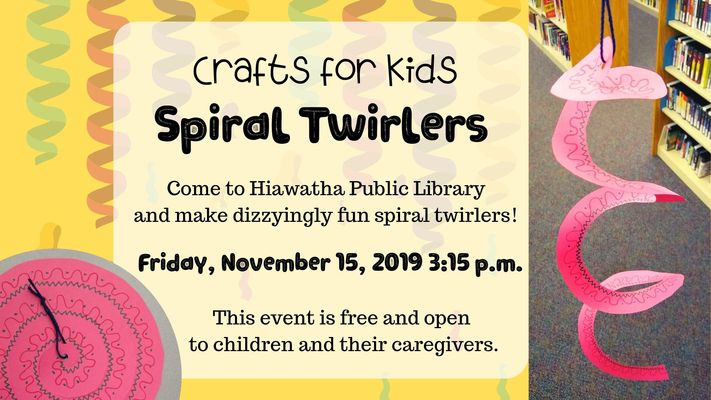 Crafts for Kids: Spiral Twirlers