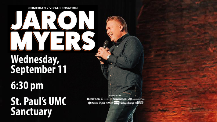 Need a Laugh? Join Us For Comedian Jaron Myers
