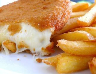 Search fried cheese