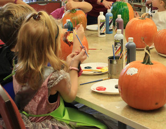 Search pumpkin painting party