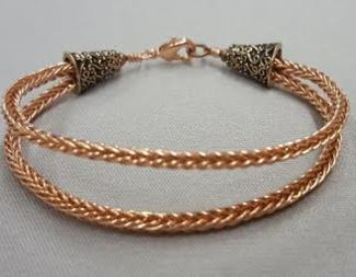 Search double braided copper wire bracelet beadology iowa