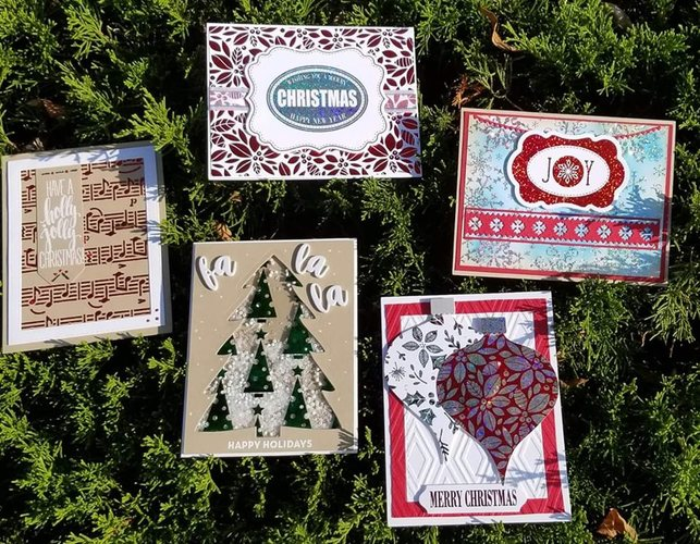 Foil Card Class at Scrapmania