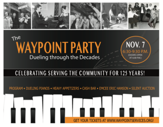 Search waypoint party postcard