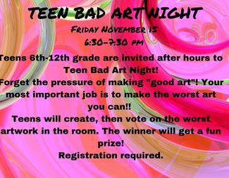 Search teen bad art night