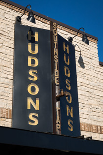The Hudson's Southside Tap sign in Iowa City Thursday, November 19, 2015. Bill Adams/Freelance