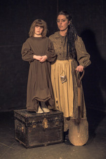 "Lily Adams (left) and Alisabeth Von Presley star as Francoise/Opal and The Mamma in ""Opal,"" a musical by Robert Lindsey-Nassif of Cedar Rapids, based on the 1904 diary by Opal Whiteley. (Von Presley Studios photo)"