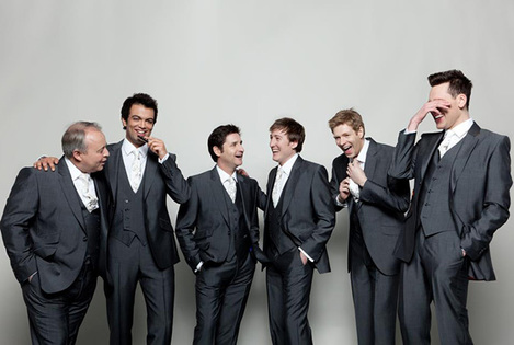 The King's Singers: David Hurley (countertenor) Timothy Wayne-Wright (countertenor) Paul Phoenix (tenor) Christopher Bruerton (baritone) Christopher Gabbitas (baritone) Jonathan Howard (bass) Benjamin Ealovega
