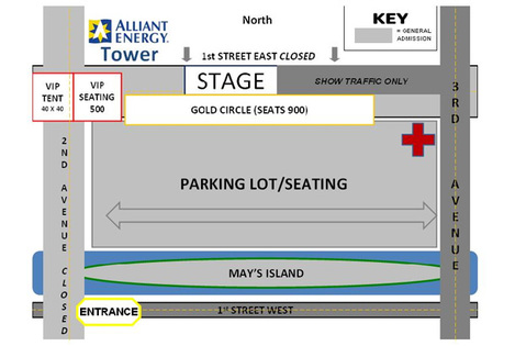 Video of where to park and sit for the Alan Jackson concert