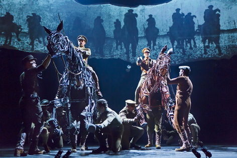 "The first national Broadway tour of ""War Horse"" is onstage at the Civic Center of Greater Des Moines from Dec. 11 to 16, 2012. (Brinkhoff/Moegenburg photo)"