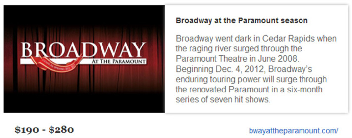 Broadway touring show series announced for Paramount Theatre